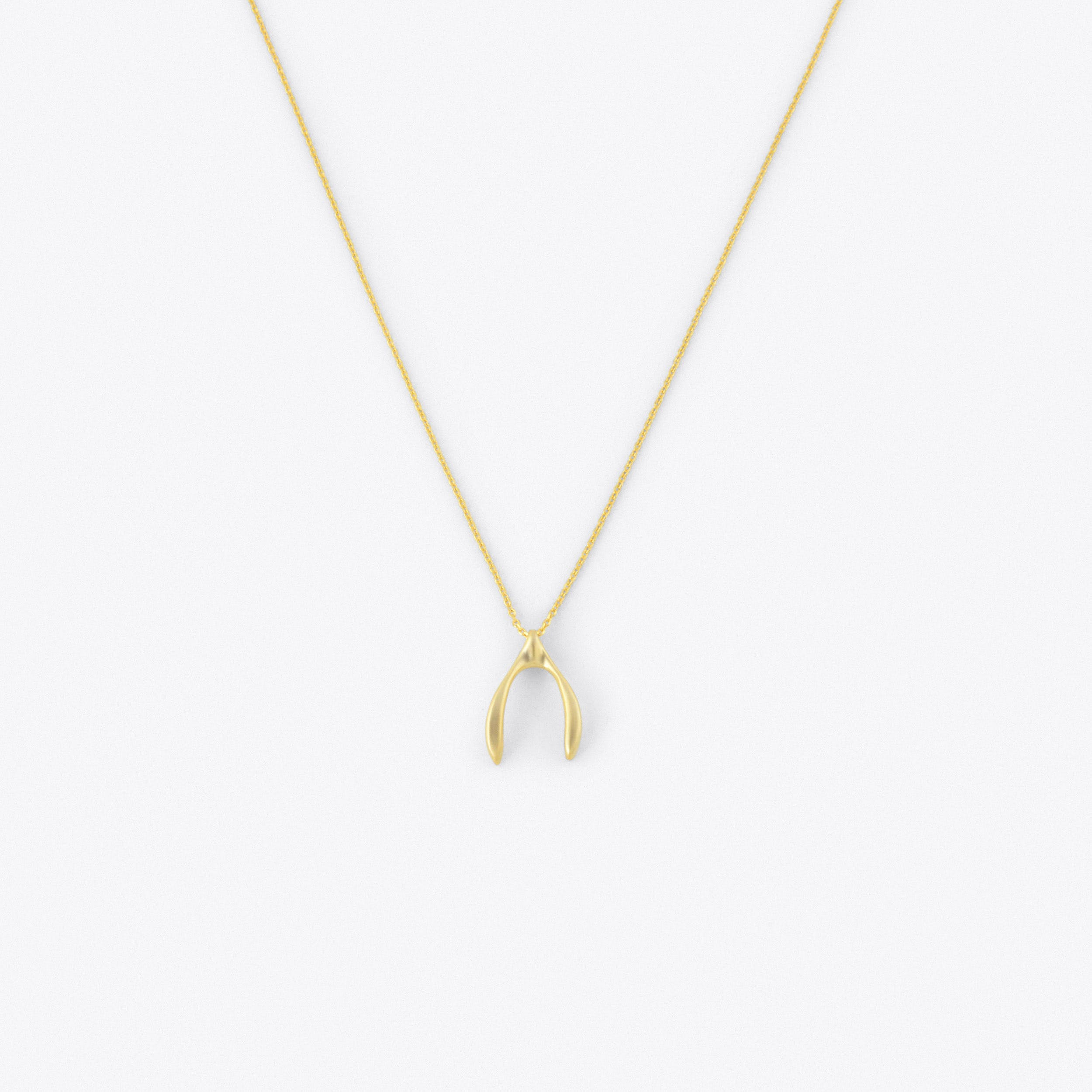 Wishbone Necklace in Gold I