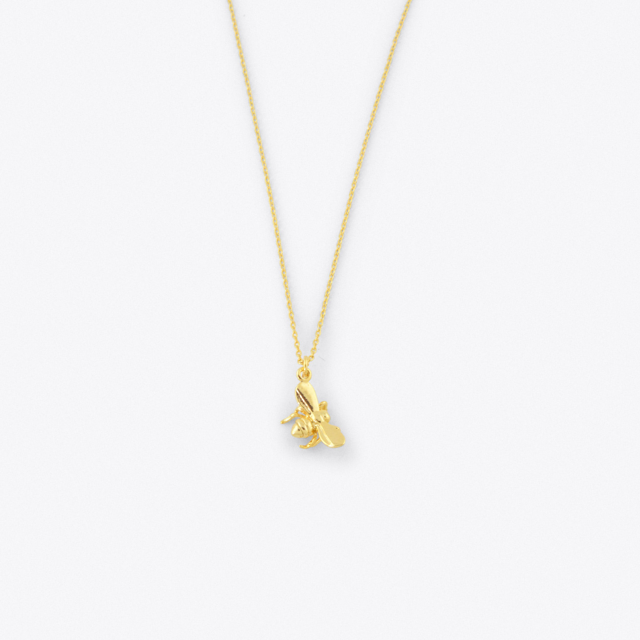 Bee Necklace in Gold