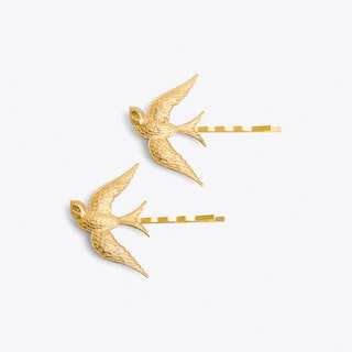 Gold Swallow Hair Grips