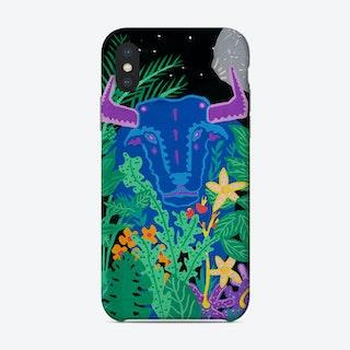 Blue Bull Phone Case