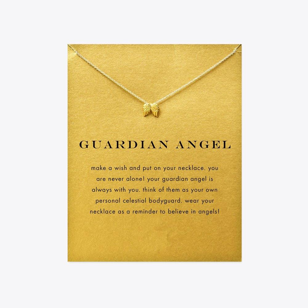 Guardian Angel Gold Dipped Mini Charm Pendants