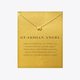 Guardian Angel Gold Dipped Mini Charm Pendants