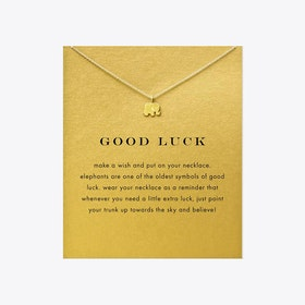 Good Luck Gold Dipped Mini Charm Pendants