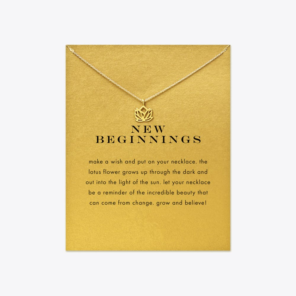 New Beginnings Gold Dipped Mini Charm Pendants