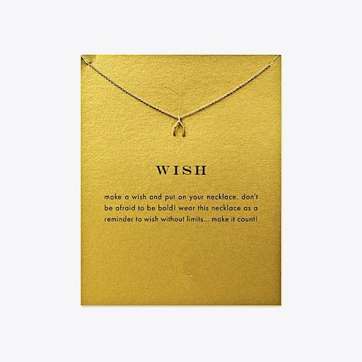 Wish Bone Gold Dipped Mini Charm Pendants