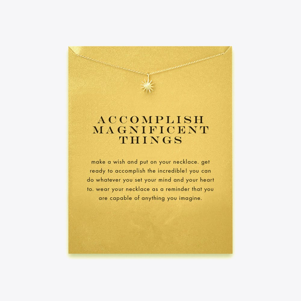 Accomplish Magnificent Things Gold Dipped Mini Charm Pendants