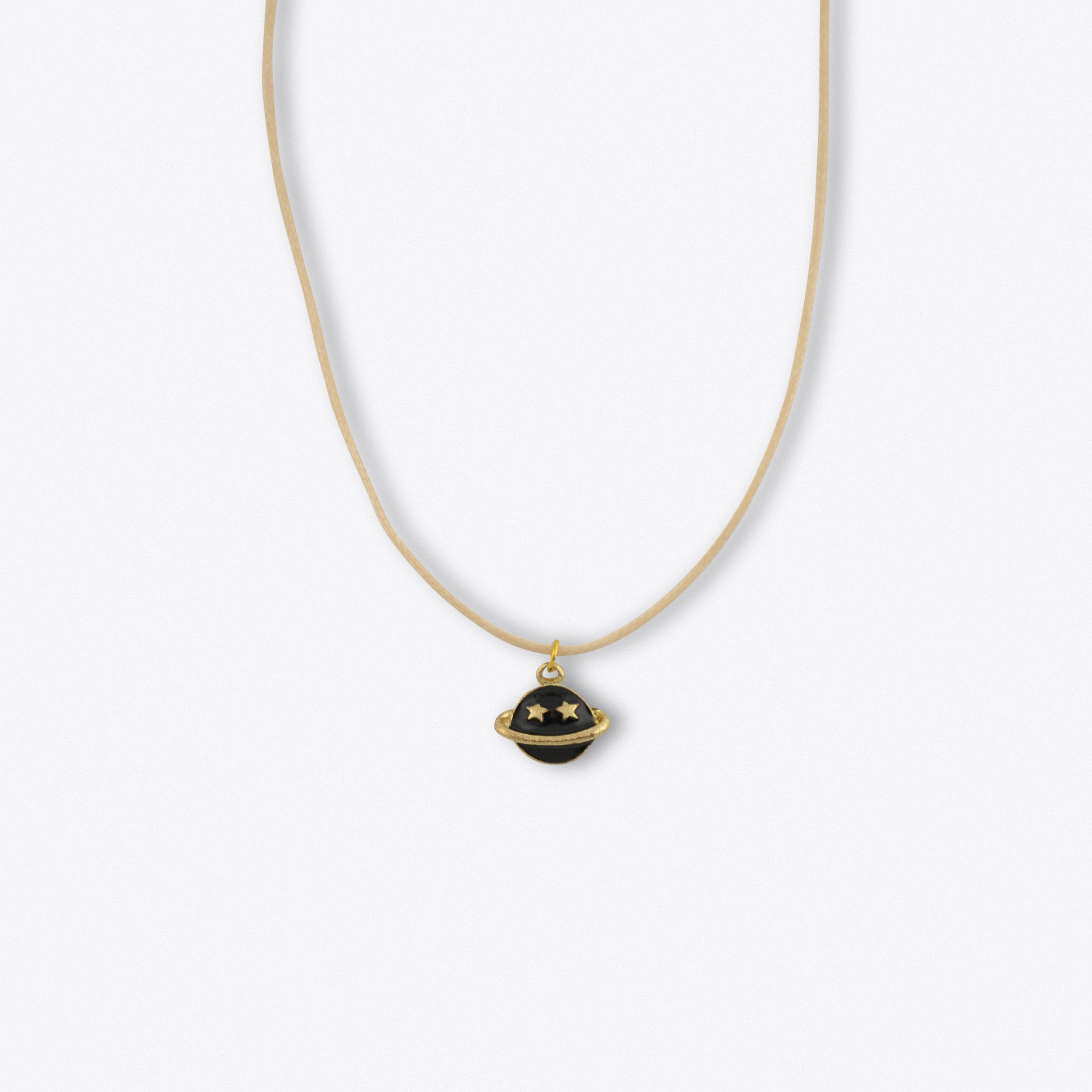 White Planet Necklace