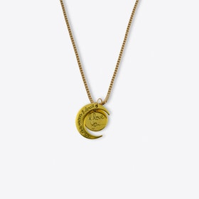 Gold I Love You To The Moon And Back Necklace