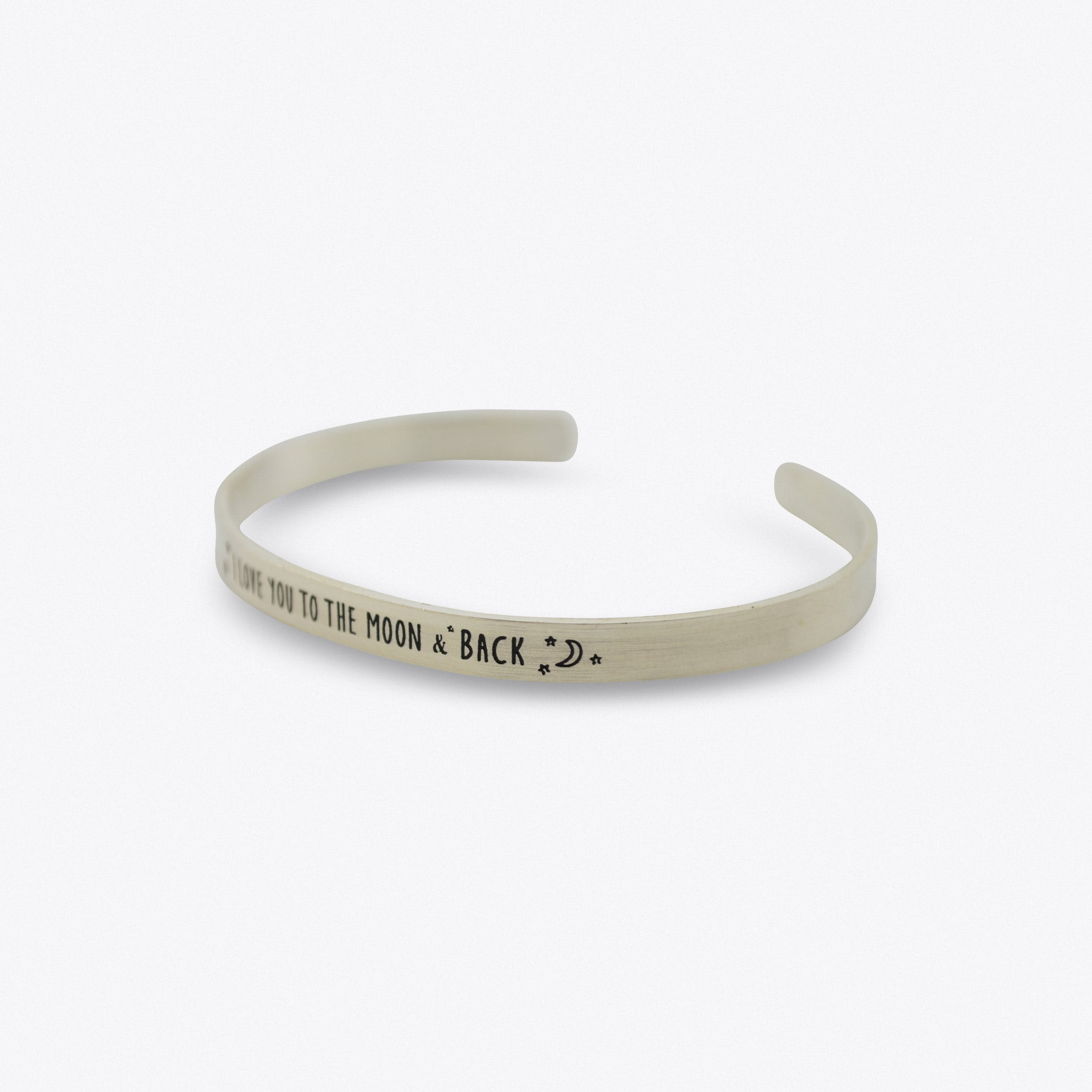 Silver I Love You To The Moon And Back Bangle