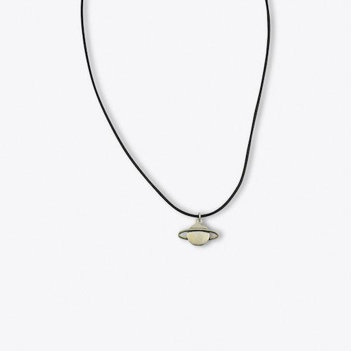 Silver Saturn Pendant Choke