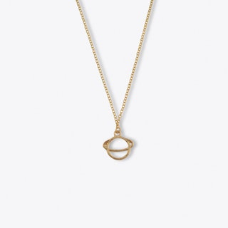 Gold Abstract Planet Charm