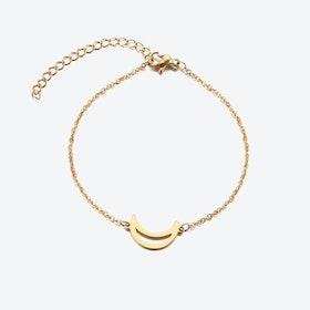 Gold Cresent Moon Bracelet