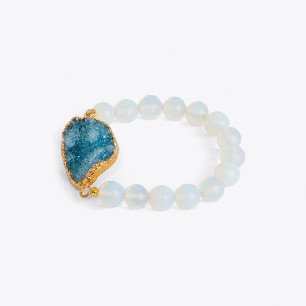 Blue Crystal & Moonstone Bracelet