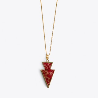 Red Arrow Point Necklace