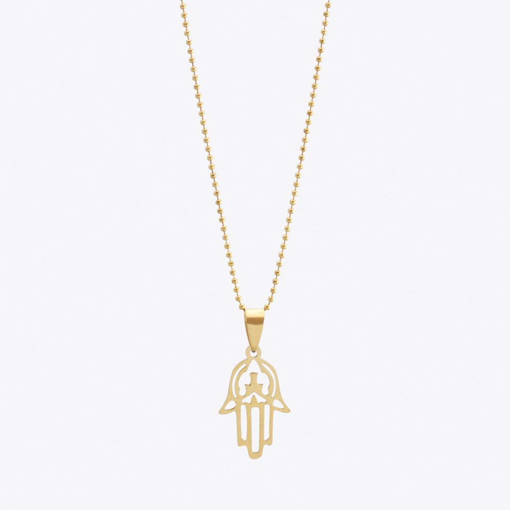 Gold Plated Mini Hamsa Hand Pendant