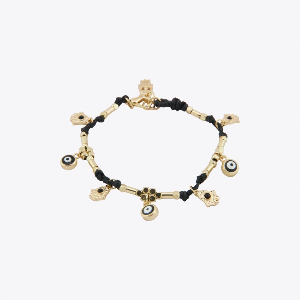 Good and Evil Charm Bracelet in Black