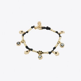 Good and Evil Charm Bracelet in Black