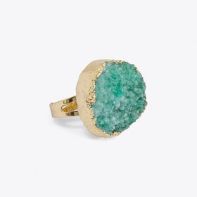 Jade Green Crystal Ring