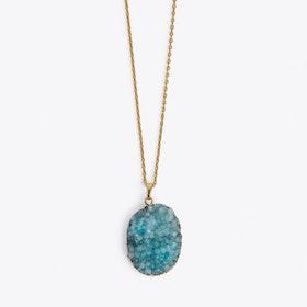 Aqua Blue Crystal Necklace