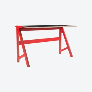 VOLT Desk - Vulcan Red with Inky Black Top
