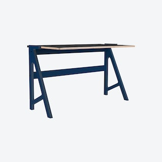 VOLT Desk - Night Blue with Inky Black Top