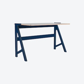 VOLT Desk - Night Blue with Dusty Grey Top
