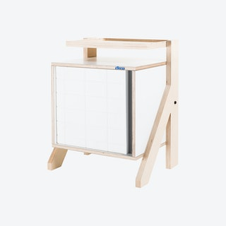 FRAME Night Table - Snow White with Transparent Grey Screen