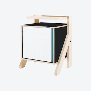 FRAME Night Table - Inky Black with Transparent Blue Screen
