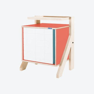 FRAME Night Table - Foxy Orange with Transparent Blue Screen