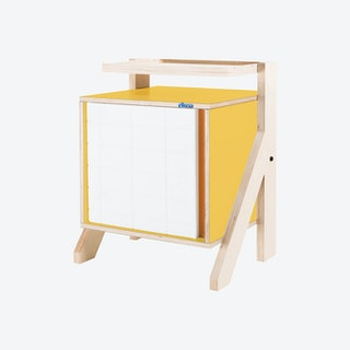 FRAME Night Table - Canary Yellow with Transparent Orange Screen