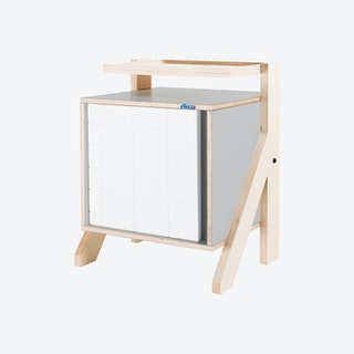 FRAME Night Table - Dusty Grey with Transparent Grey Screen