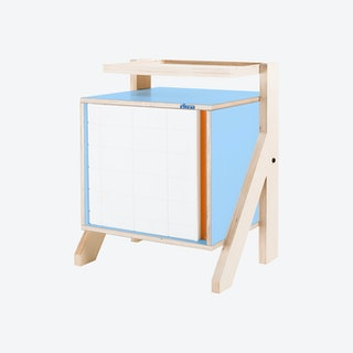 FRAME Night Table - Butterfly Blue with Transparent Orange Screen