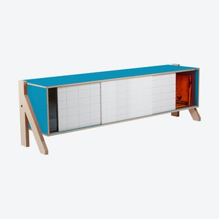 FRAME Sideboard 01 - Iris Blue with Transparent Orange Screen
