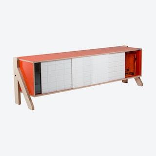 FRAME Sideboard 01 - Foxy Orange with Transparent Orange Screen