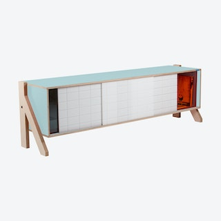 FRAME Sideboard 01 - Butterfly Blue with Transparent Orange Screen
