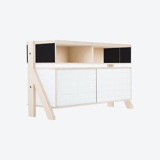 FRAME Sideboard 02 - Inky Black with Transparent Blue Screen