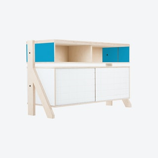 FRAME Sideboard 02 - Iris Blue with Transparent Blue Screen