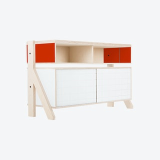 FRAME Sideboard 02 - Foxy Orange with Transparent Blue Screen
