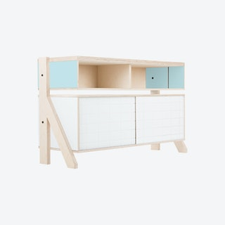 FRAME Sideboard 02 - Butterfly Blue with Transparent Blue Screen