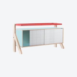 FRAME Sideboard 03 - Butterfly Blue with Transparent Blue Screen