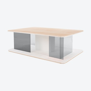 GRID Coffee Table - Ash with Transparent Grey Screen
