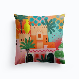 Morocco Afternoon Canvas Cushion