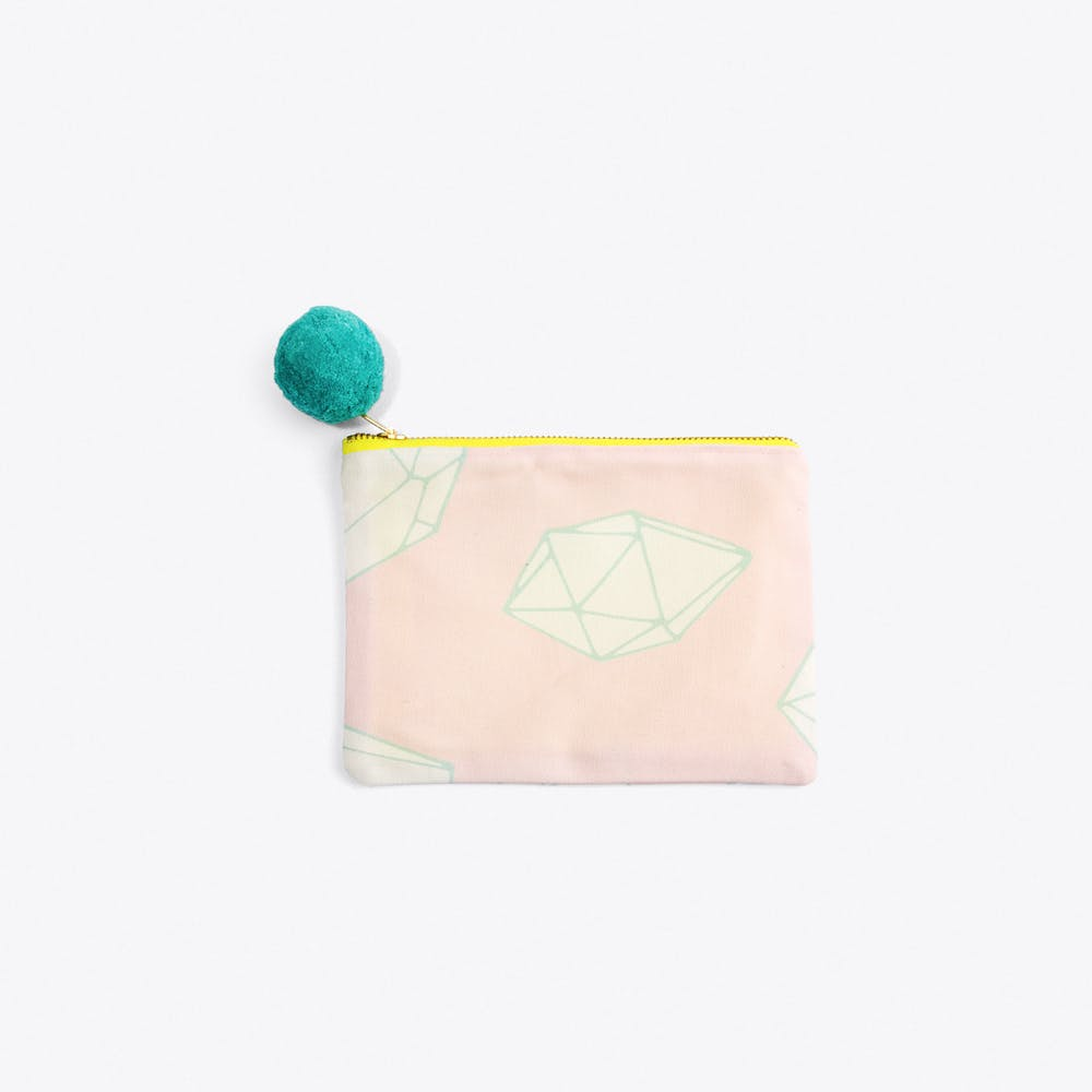Pink Crystal Pouch in Small