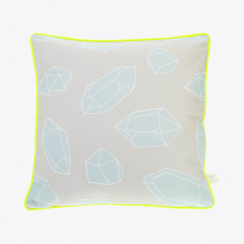 Crystal & Neon Pale Grey Cushion Cover