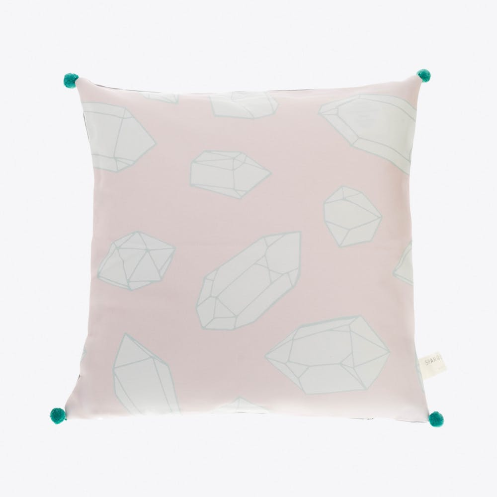 Crystal & Neon Pale Pink Cushion Cover