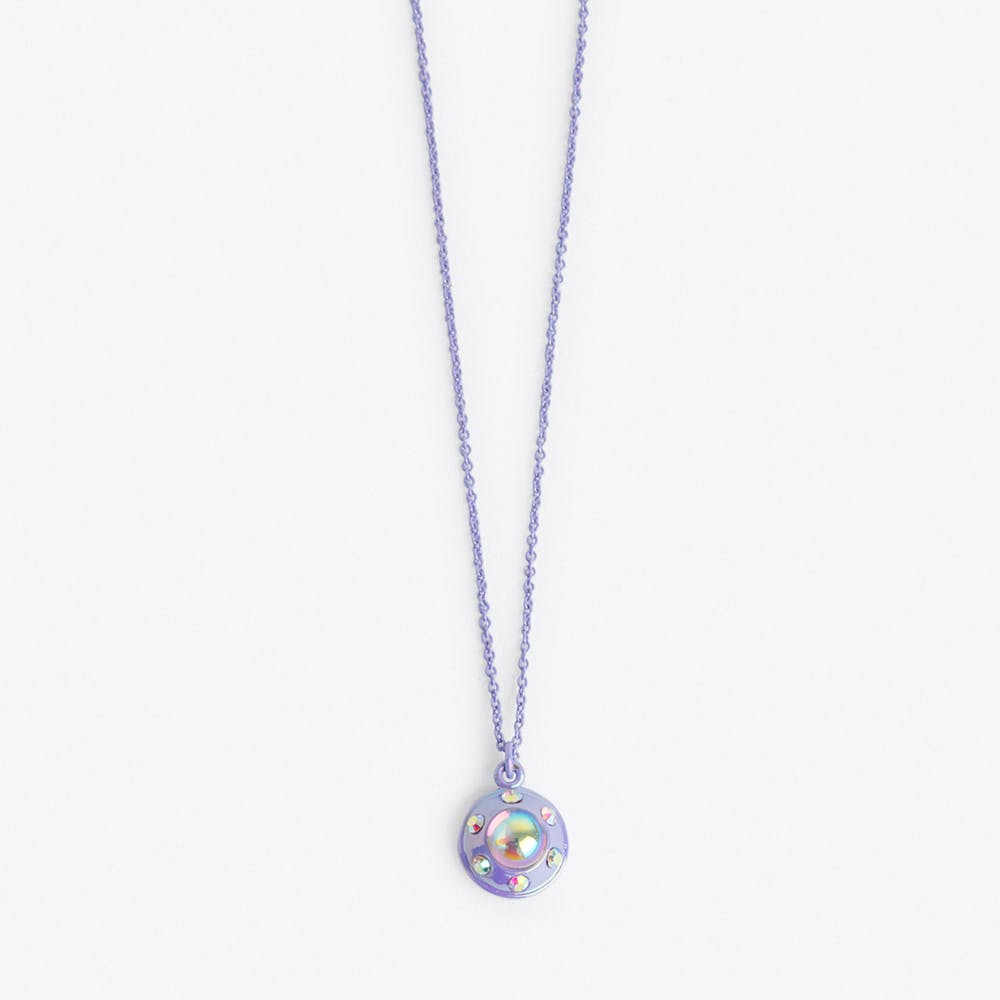 UFO Necklace in Lilac