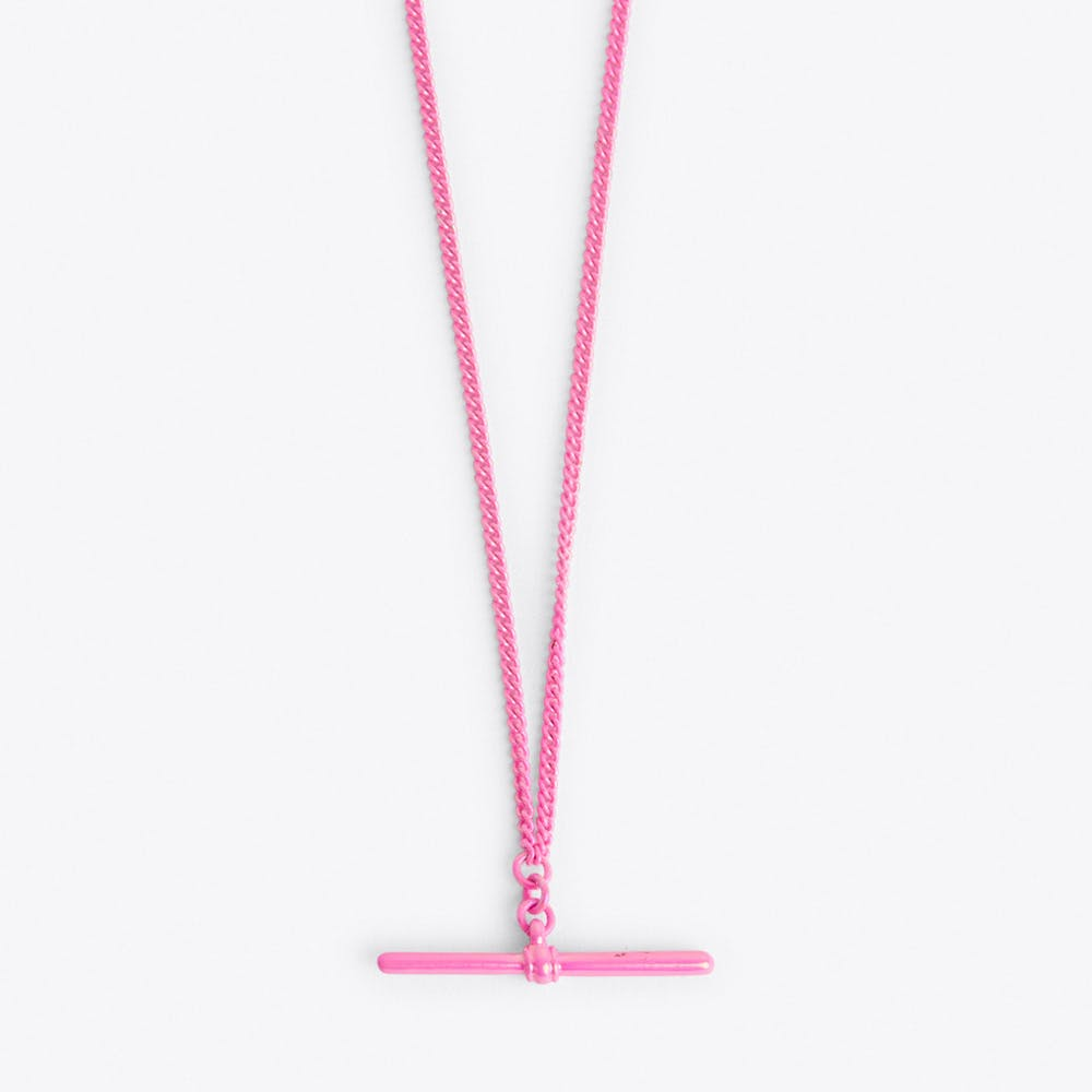 T-bar Necklace in Pink