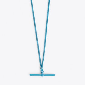 T-bar Necklace in Blue