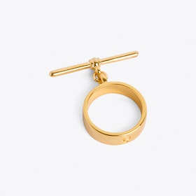 T-bar Ring in Gold