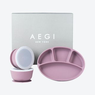 Silicone Suction Tabletop Gift Set - Plum - Set of 3